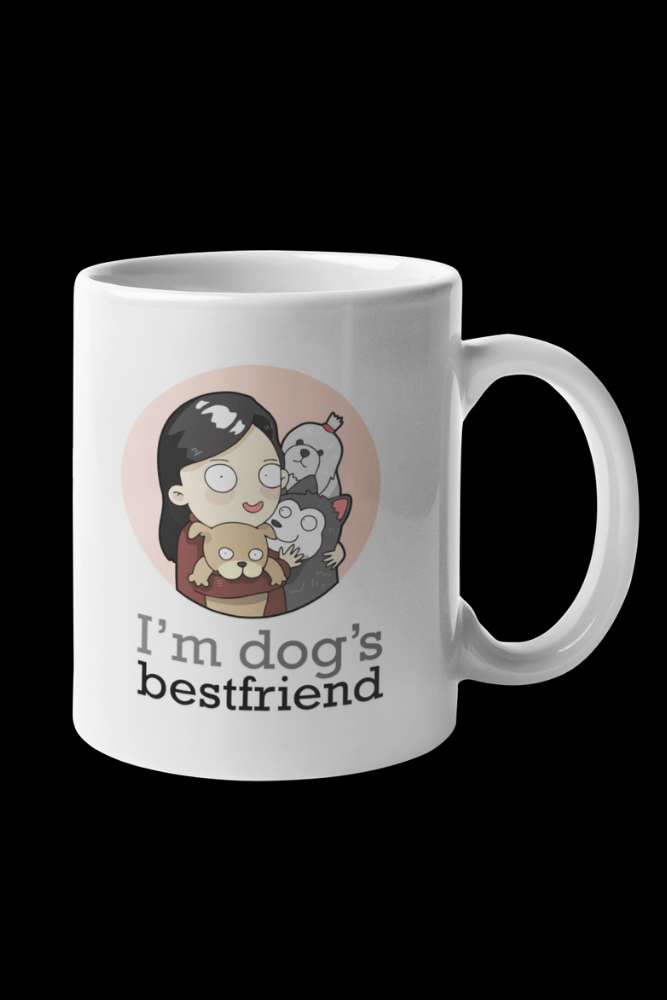 Dog BFF Female Sublimation White Mug