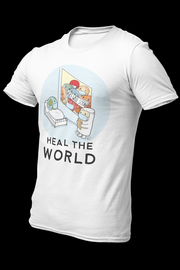 Heal The World Sublimation Dryfit Shirt With Logo At The Back