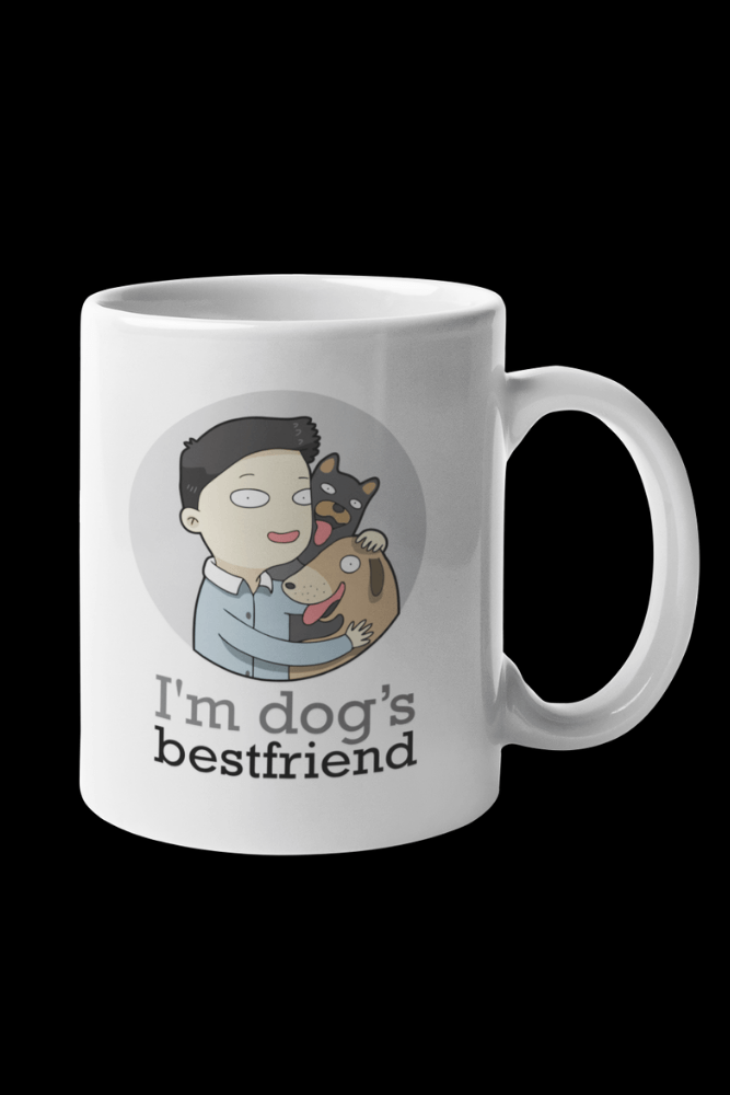 Dog BFF Male Sublimation White Mug