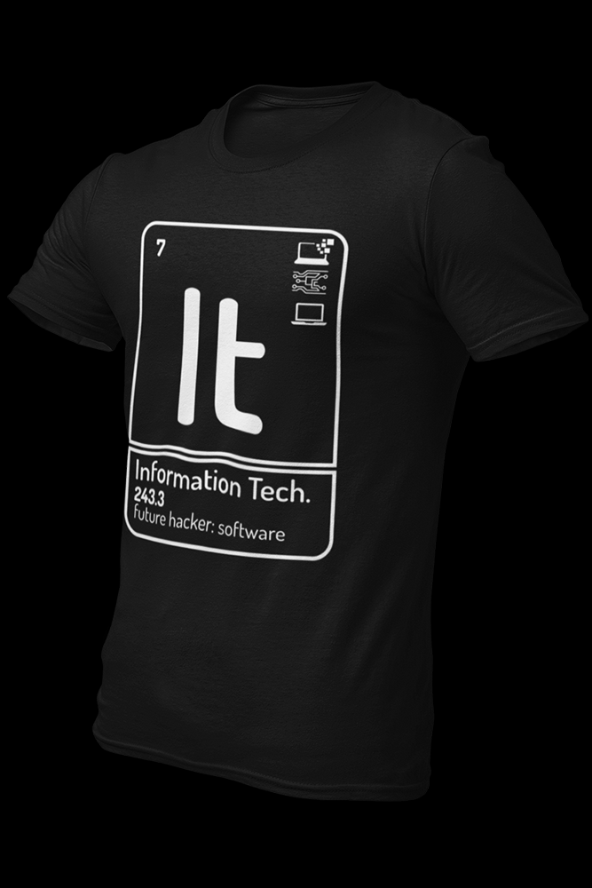 Information technology Cotton Shirt With Logo At The Back