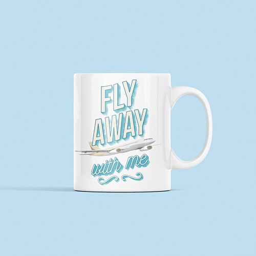 Fly Away Sublimation White Mug