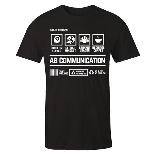 AB Communication Handling Black Cotton Shirt