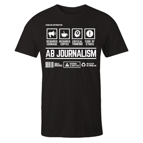 AB Journalism Handling Black Cotton Shirt