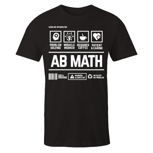 AB Math Handling Black Cotton Shirt