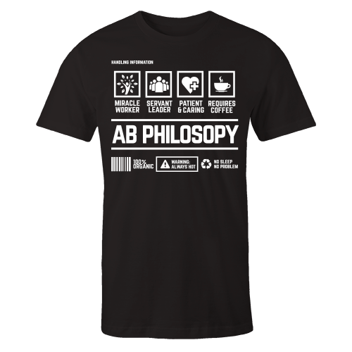AB Philosopy Handling Black Cotton Shirt