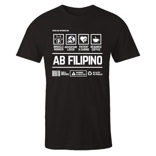 AB Filipino Handling Black Cotton Shirt