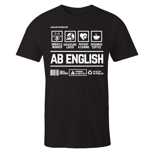 AB English Handling Black Cotton Shirt