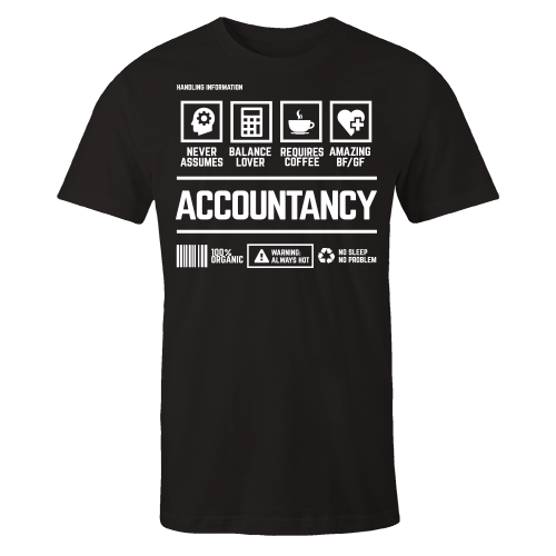 Accountancy  Handling Black Cotton Shirt