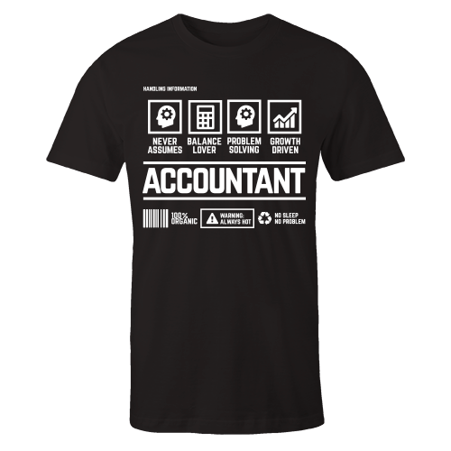 Accountant Handling Black Cotton Shirt
