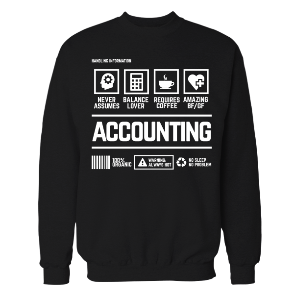 Accounting Handling Black Cotton Shirt