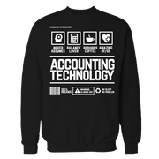 Accounting Handling Technology Black Cotton Shirt