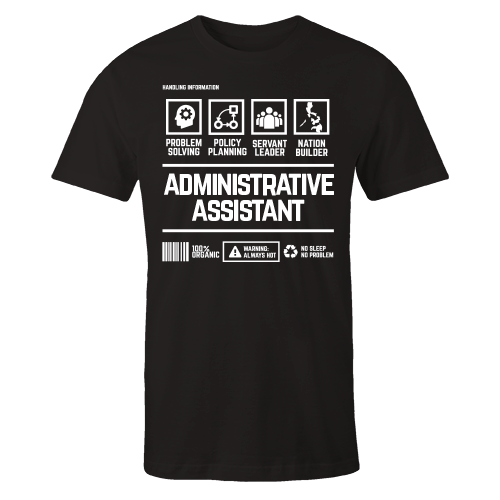 Administrative Assistant Handling Black Cotton Shirt