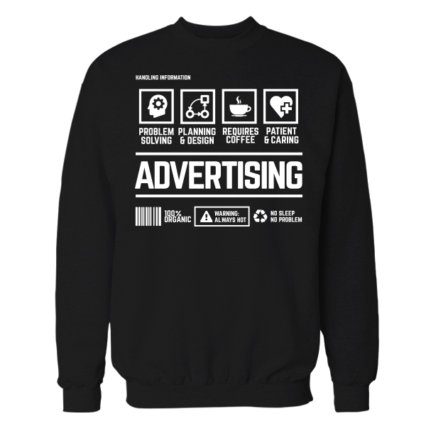 Advertising Handling Black Cotton Shirt
