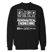 Aeronautical Handling Black Cotton Shirt