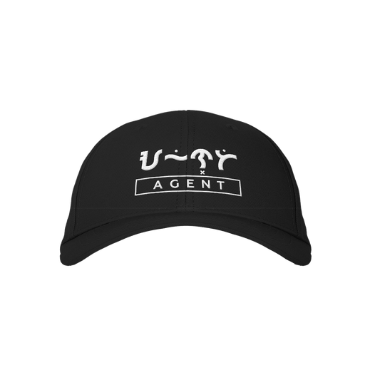 Agent Black Embroidered Cap