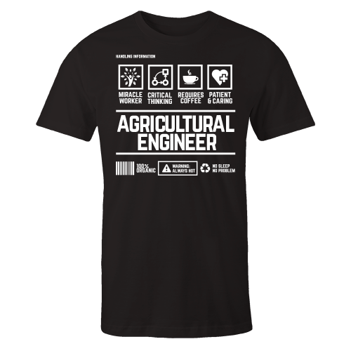 Agricultural Engineer Handling Black Cotton Shirt