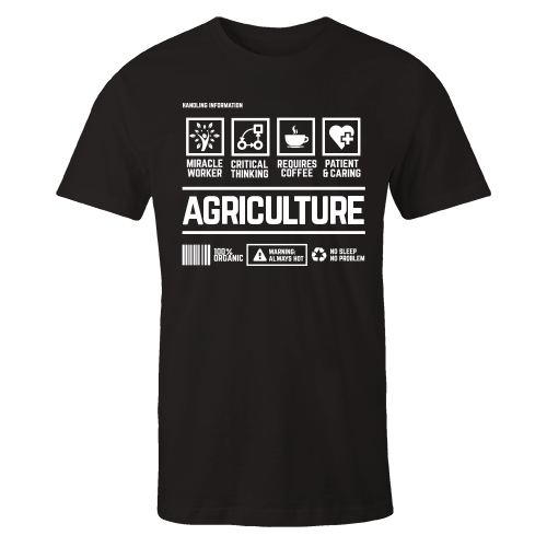 Agriculture Black Handling Cotton Shirt