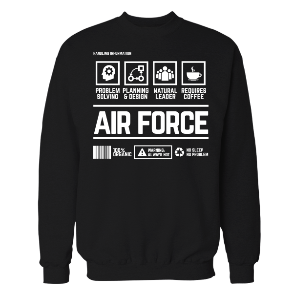 Air Force Handling Black Cotton Shirt