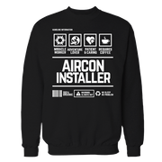 Aircon Installer Handling Black Cotton Shirt