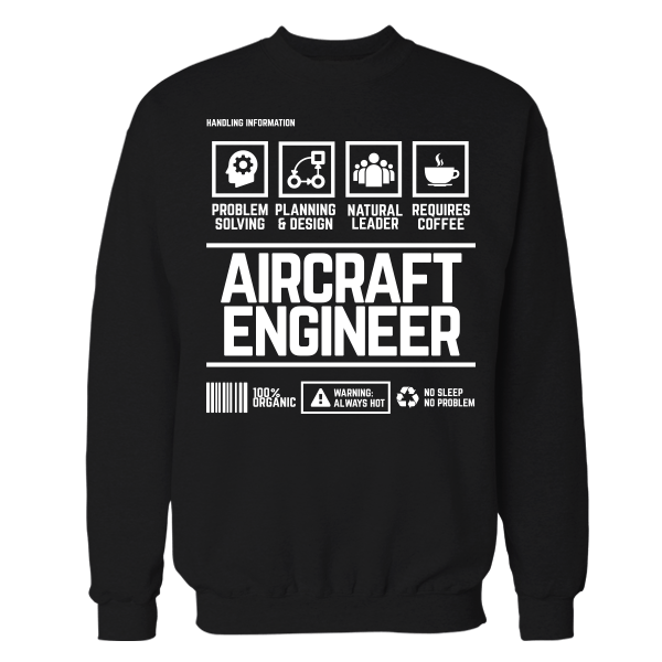 Aircraft Engineer Handling Black Cotton Shirt