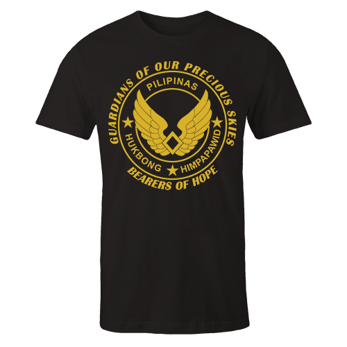 Airforce Insignia Black Cotton Shirt