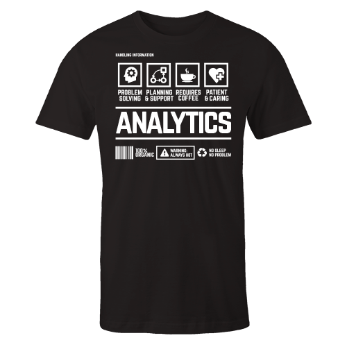 Analytics Handling Black Cotton Shirt