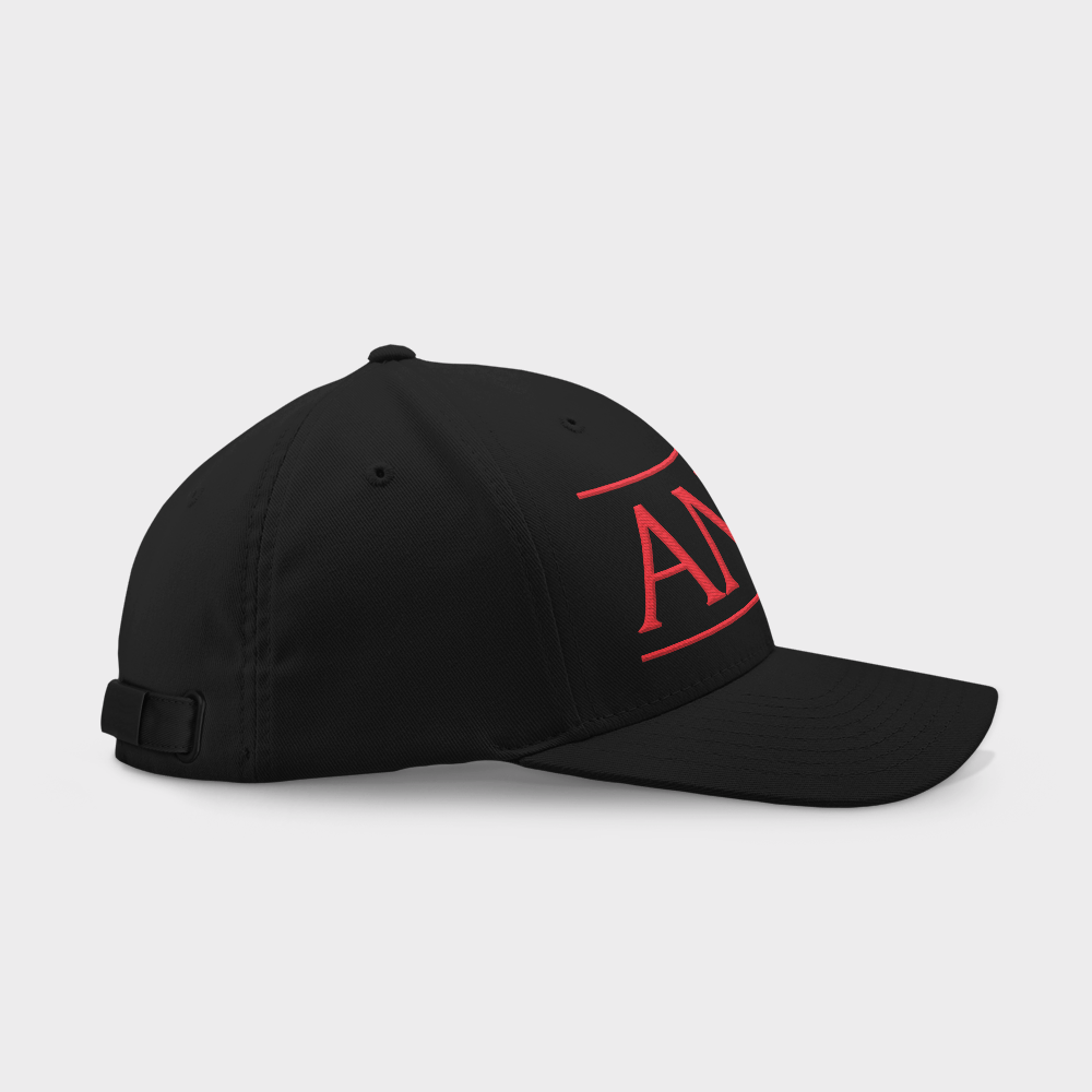 Animo Black Embroidered Cap