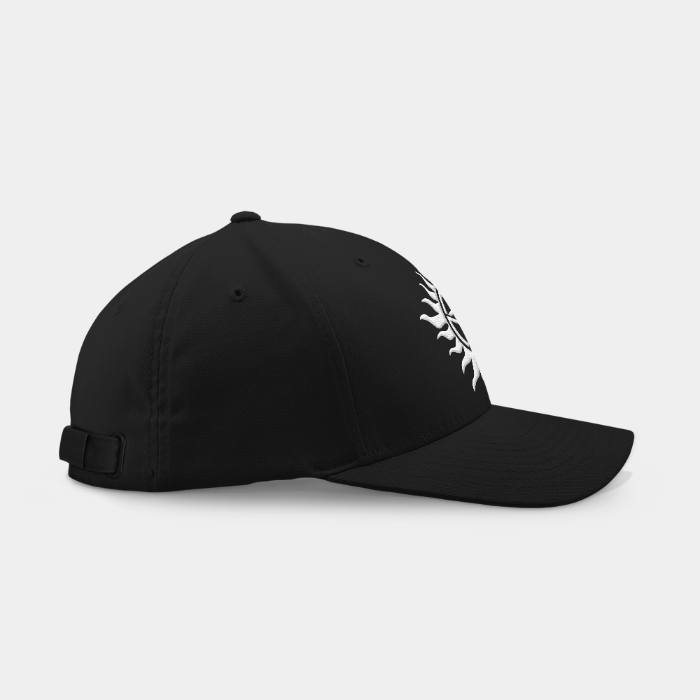 Anti Possession Tattoo Black Embroidered Cap