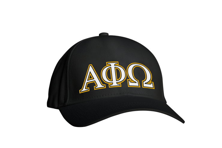 ΑΦΩ Greek Black Embroidered Cap