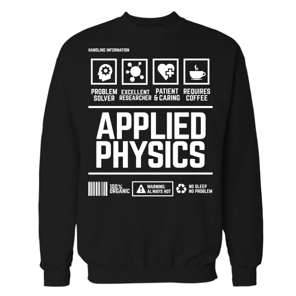 Applied Physics Handling Black Cotton Shirt