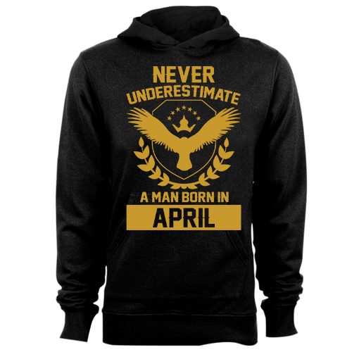 Never Underestimate A Man Born In April Cotton Shirt