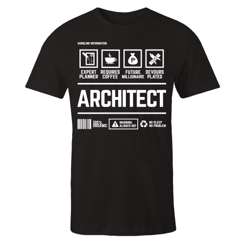 Architect Handling Black Cotton Shirt
