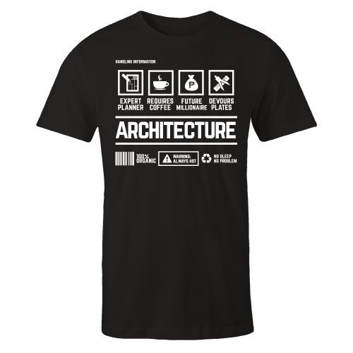 Architecture Handling Black Cotton Shirt