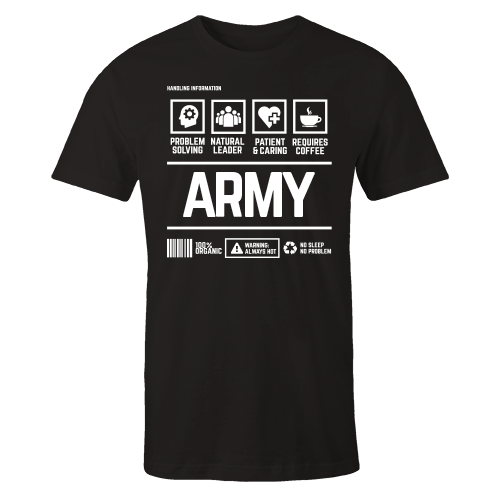 ARMY Handling Black Cotton Shirt