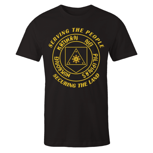 Army Insignia Black Cotton Shirt