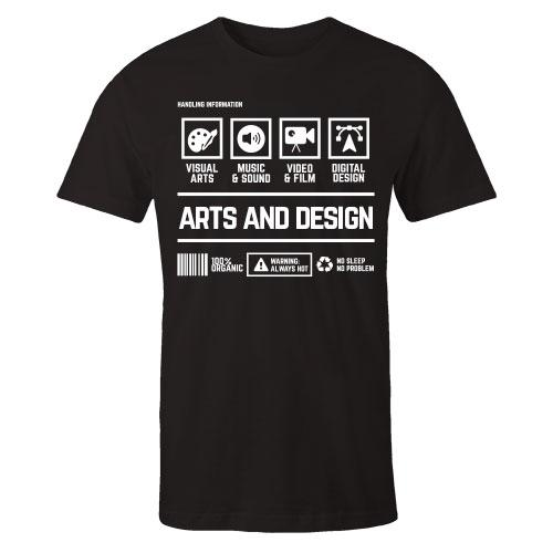 Arts and Design Handling Black Cotton Shirt