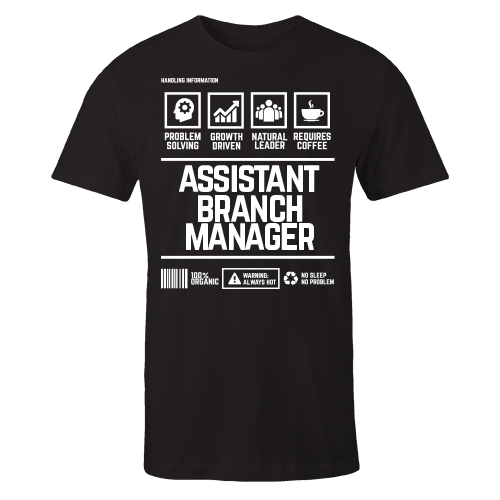 Assistant Branch Manager Handling Black Cotton Shirt