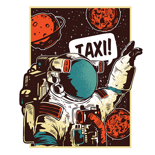 Astro Taxi Sublimation Dryfit Shirt