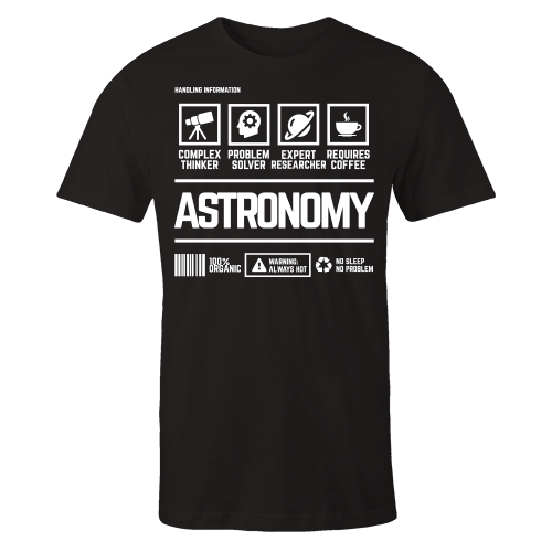 Astronomy Handling Black Cotton Shirt