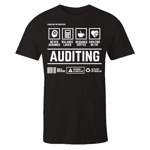 Auditing Handling Black Cotton Shirt