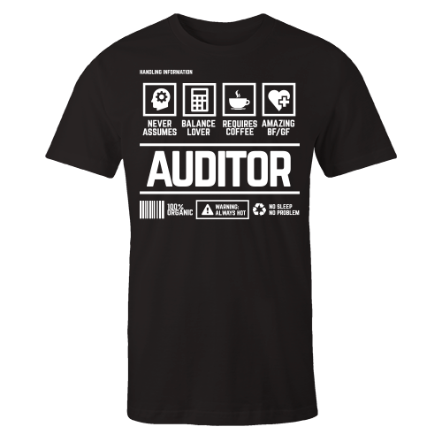 Auditor Handling Black Cotton Shirt