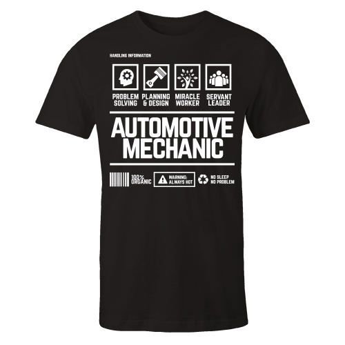 Automotive Mechanic Handling Black Cotton Shirt