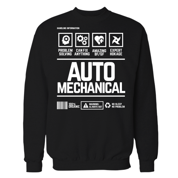 Auto Mechanical Handling Black Cotton Shirt