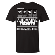 Automative Engineer Handling Black Cotton Shirt