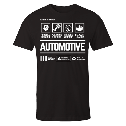 Automotive Handling Black Cotton Shirt