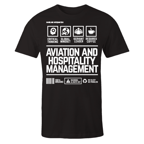 Aviation And Hospitality Management Handling Black Cotton Shirt