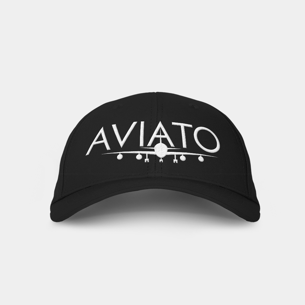 Aviato Black Embroidered Cap