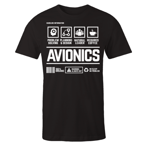 Avionics Handling Black Cotton Shirt