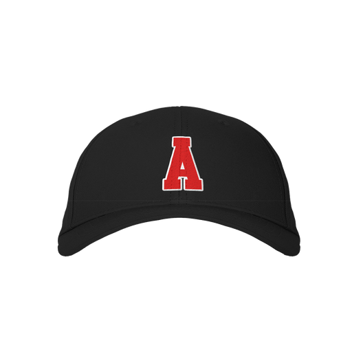 Letter A Black Embroidered Cap