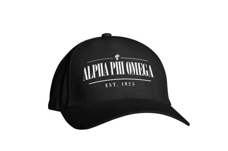ΑΦΩ Black Embroidered Cap
